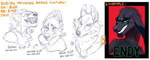 YCH Badge Auction CLOSED! by LiLaiRa