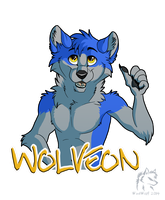 Wolveon Badge  by WindWo1f