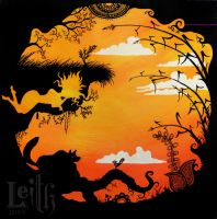 The fox the bird and the earth by Leithwalton