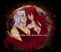 +Lunitari and Raistlin+ by Aidiki-chan