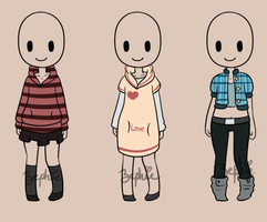 Female Outfits 2 -Closed- by CoffeeCake-Adopts