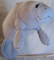 Manatee Crochet Doll by voxmortuum
