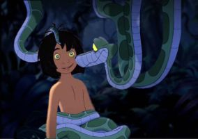 Mowgli and Kaa: 4th Encounter by Scarecrow1701