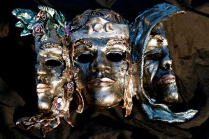 Triple Goddess Mask 2 by El-Sharra