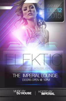 Electik Party Flyer by ImperialFlyers