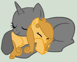 Collab: Cuddles With Taffy Apple by iPandacakes