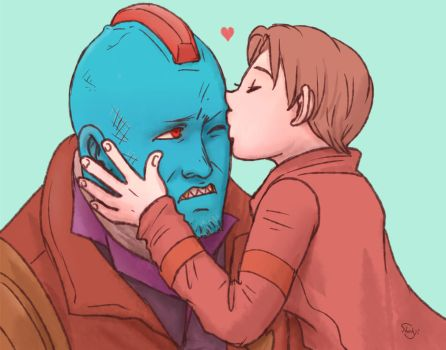 Yondu and Peter by J-666