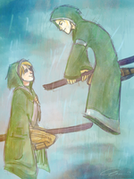 Quidditch with Malfoy by annogueras