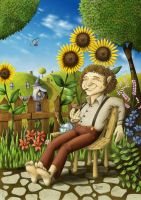 Bilbo In His Garden - coloured by ivoignob