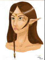 Elf colored by tite-pao