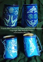 Coyote Blue Celtic Bracers Set by MPFitzpatrick