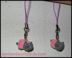 Nyancat Charms by Lambentworld