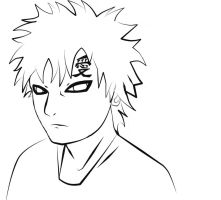 Gaara line art by Equine-Instinct