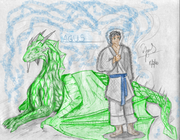 Me and my dragon me. by Ysulyan