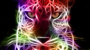 Stare - Fractal Cheetah by MiniMoo64