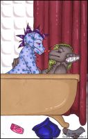 Bath Time by shower-zombie