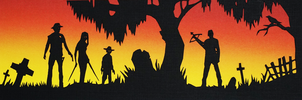 Walking Dead Paper Cut by tripperfunster