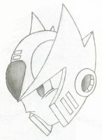 Maveric Zero Head Sketch by DeathSpikes