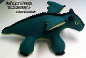 Redesigned Dragon Plush Prototype by IchibanVictory