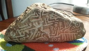 Engraved Christmas Rock by Labyrinther