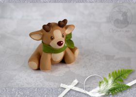Rudolph fawn commission by Keila-raven