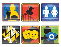 LEGO Land Waypoint Signs by chrisfire1