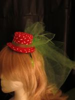 FOR SALE Strawberry mini hat by Ringo-Chu