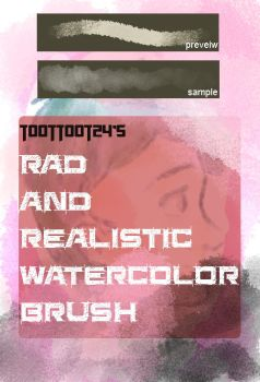 Rad As Heck Watercoloring Brush by Toottoot24