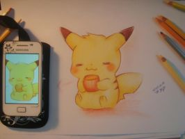 Pikachu - tea time by Huyen-Linh