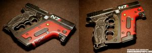 Custom Mass Effect-inspired Energy Pistol by JohnsonArms