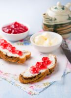 Sandwiches with fresh red currant jam by BeKaphoto