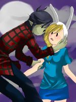 Fionna and Marshall lee by Cipni