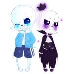 Request: Sans and Voltaire by bulletprooftae