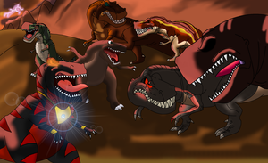 Clash of the Kings (Sharptooth Riot) by Asuma17