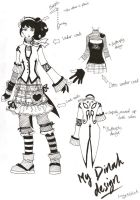 Dinah costume design by oddballlucy