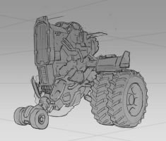 Speed Sketch: Tractor concept by rickystinger88