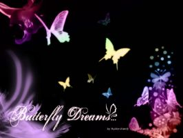 Wallpaper Butterfly by hydrachan
