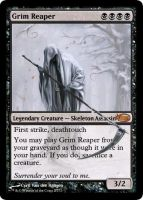 Grim Reaper MtG by 7onely5hadow