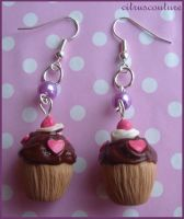cupcake-love earrings by citruscouture