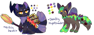 halloween garden pup adoptable auction collab by crowla