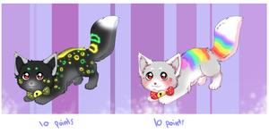Glowing Cat Batch 3 Closed by Poke--Central