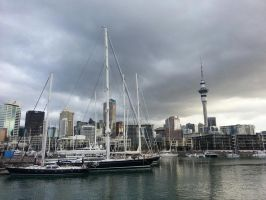 Waterfront of Auckland by jacobjellyroll