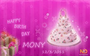 HAPPY BIRTH DAY MONY by NODY4DESIGN
