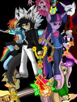 Kiryu and The Mane 6 (Drive Forms) by mkf2308