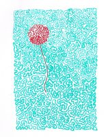 fly away red balloon by umi-zella