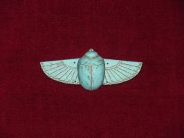 Turquoise Scarab, Egypt, c. 2400 BCE by VictorianSpectre