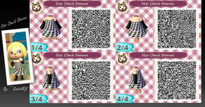 Star Check Sleeves by GumballQR