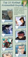 Top 10 Hottest Animated Guys by MarrinWolf