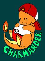 Colored charmander ball by audioslavekitty