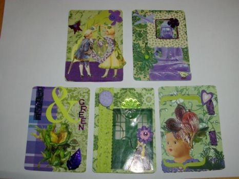 My very first ATC's by Moosecastle